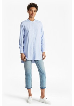 Stripe Grandad Collar Tunic Shirt