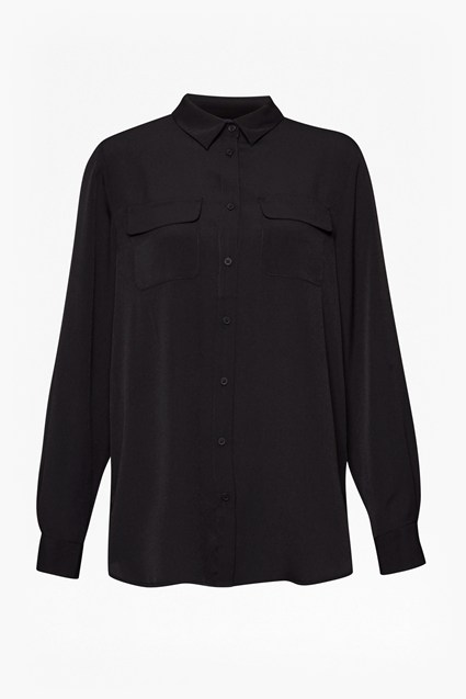 Crepe Light Front Pockets Shirt