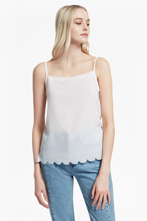 classic crepe light scalloped cami