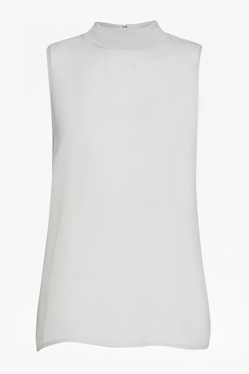 Complete the Look Crepe Light Mock Neck Top
