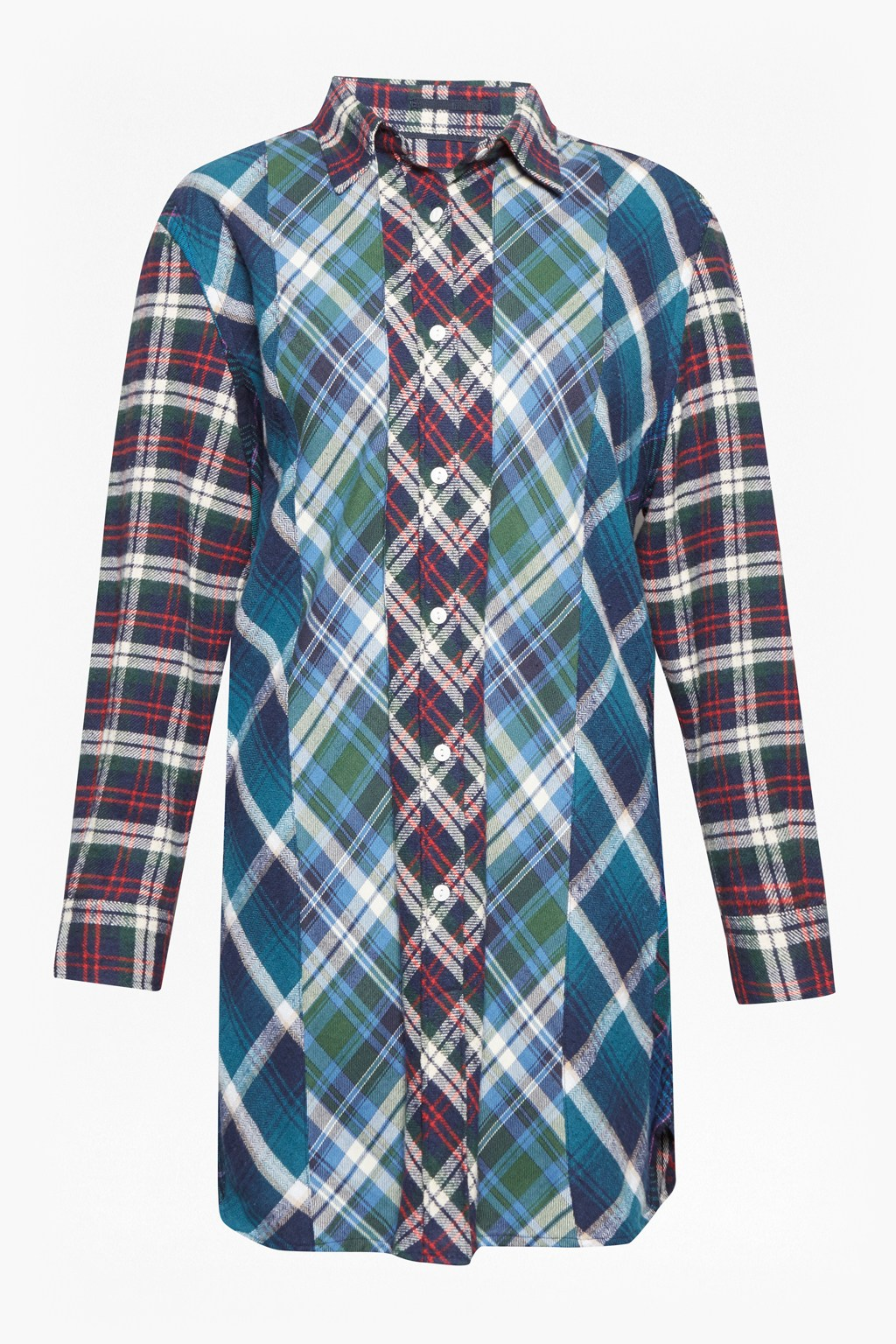 d6a9589444f Patchwork Flannel Checked Shirt | Collections | French Connection