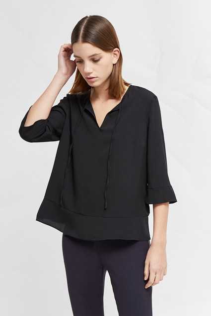 Classic Crepe Light Woven Top