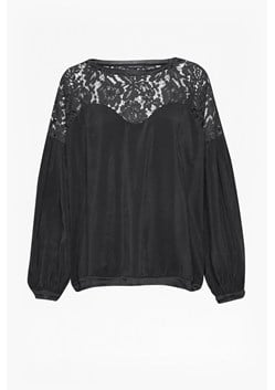 Lassia Cupro Lace Yoke Top
