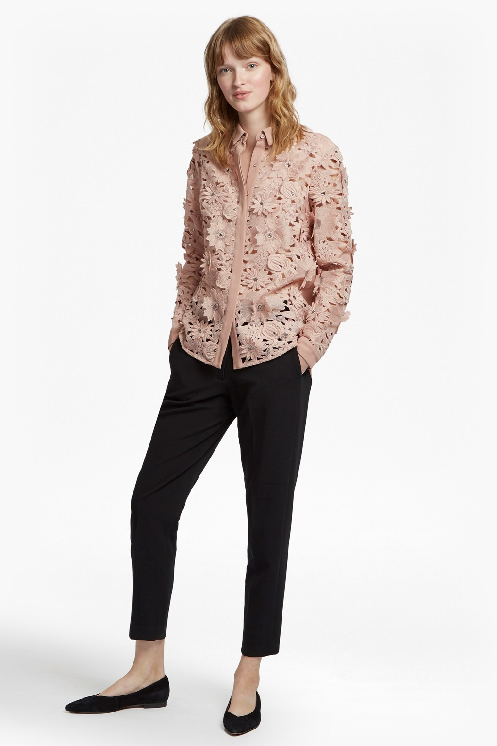 c36327e514dcb Manzoni Sparkle Lace Shirt | Collections | French Connection