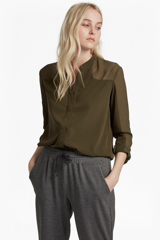 polly plains crepe shirt