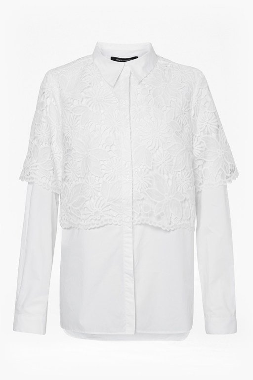 southside mix lace shirt