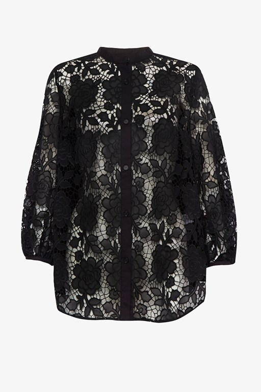 chania lace puff sleeve shirt