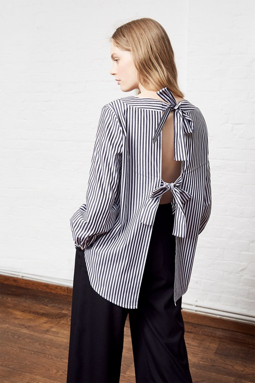 sardinia stripe square neck top