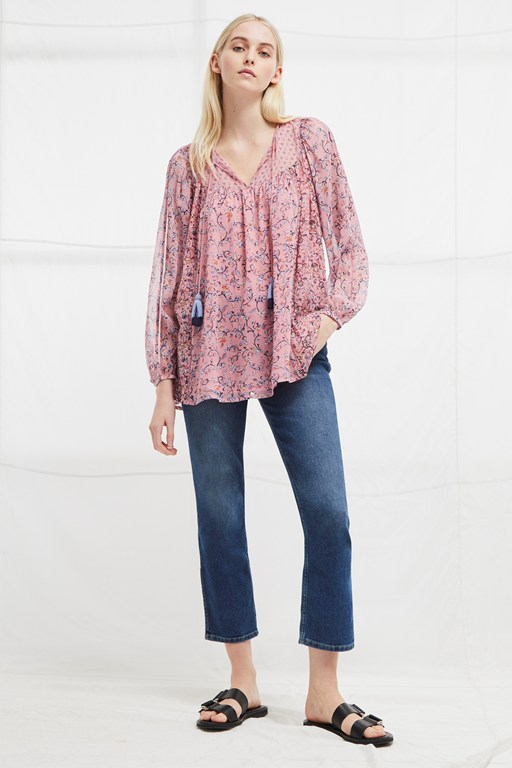 savana sheer folk top