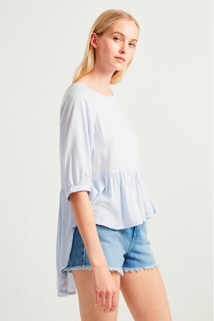 Summer Slub Peplum Top