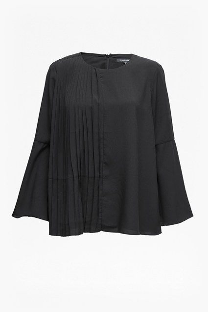 Light Crepe Bell Sleeved Top