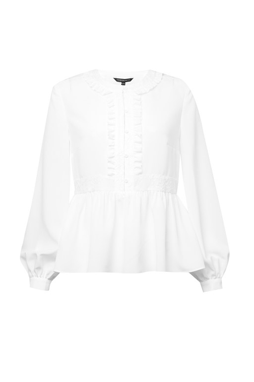 crepe light lace blouse
