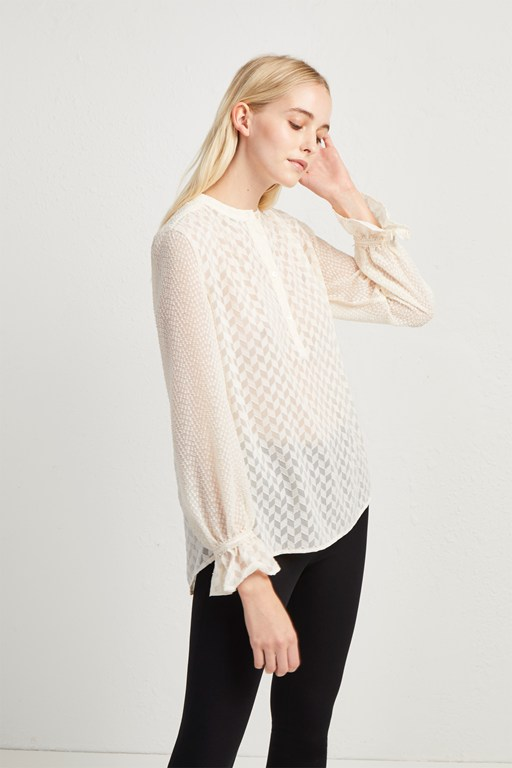 corsica sheer pop over blouse