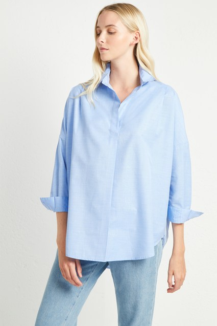 Rhodes Cotton Pop Over Shirt