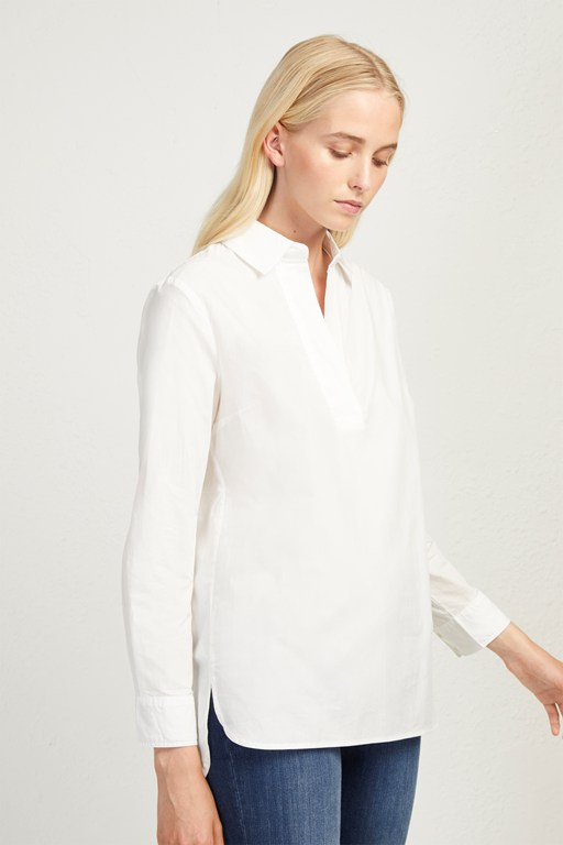 cotton pop over shirt