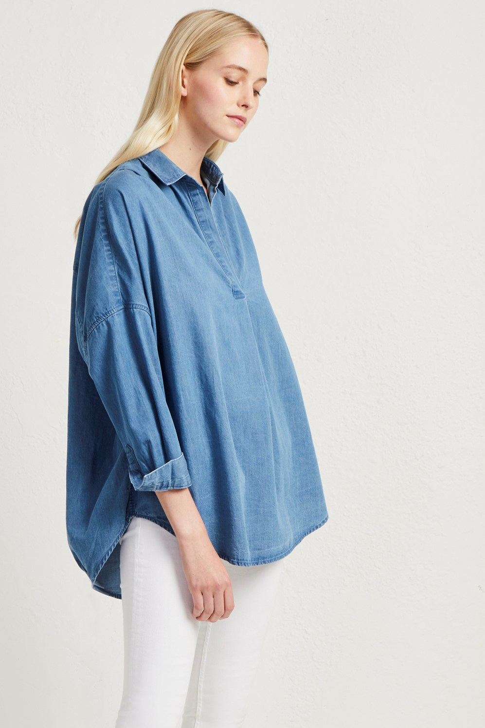 9e0e2c0dd10 Tidore Chambray Popover Shirt | Collections | French Connection