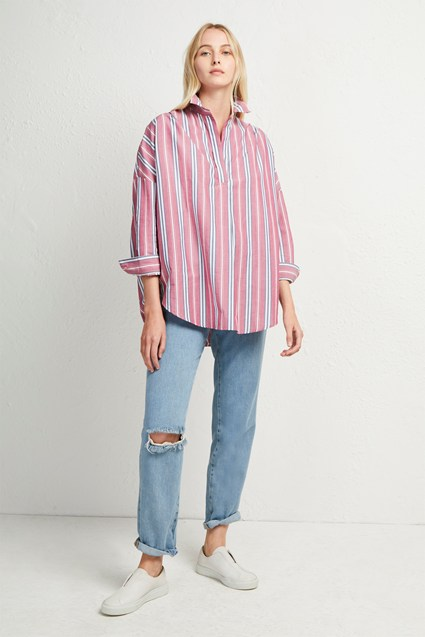 Bega Stripe Pop Over Shirt