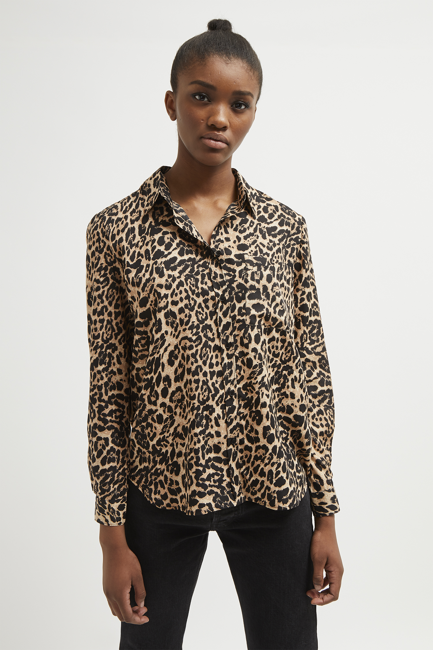 62b354f4a2 Leopard Print Boyfit Shirt | Collections | French Connection