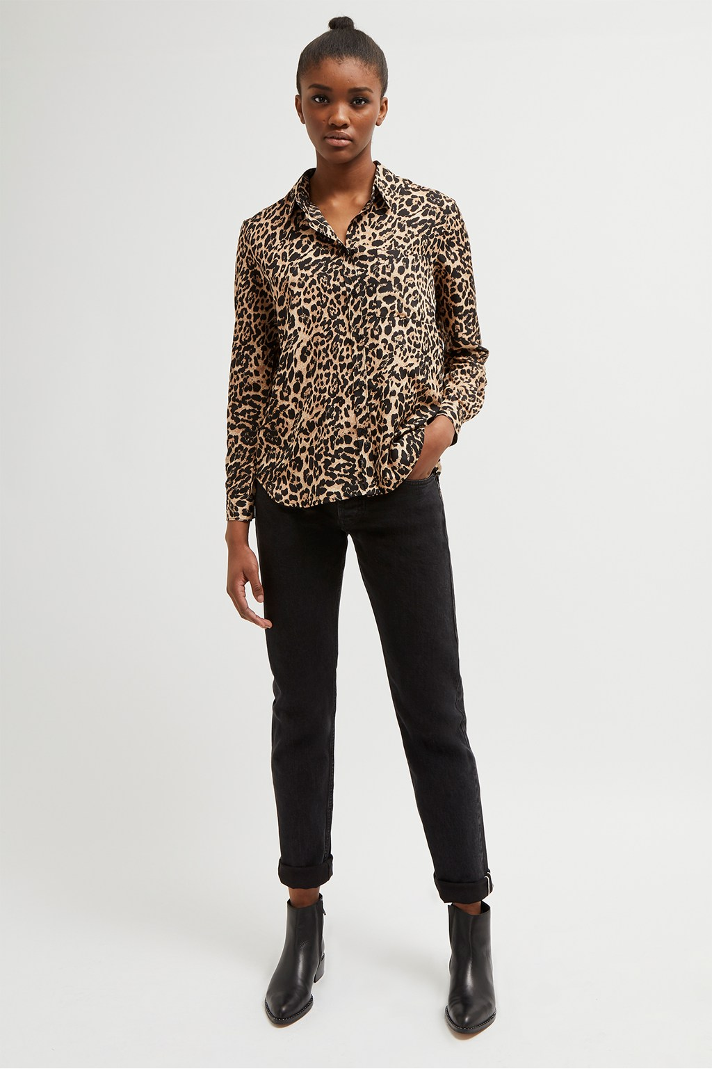 cce32756475 Leopard Print Boyfit Shirt | Collections | French Connection