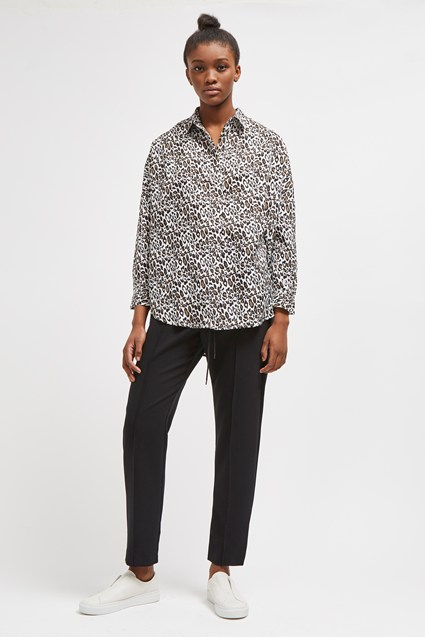 Leopard Print Pop Over Shirt