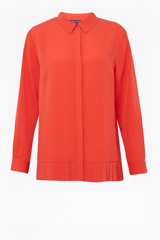 crepe light pleat shirt