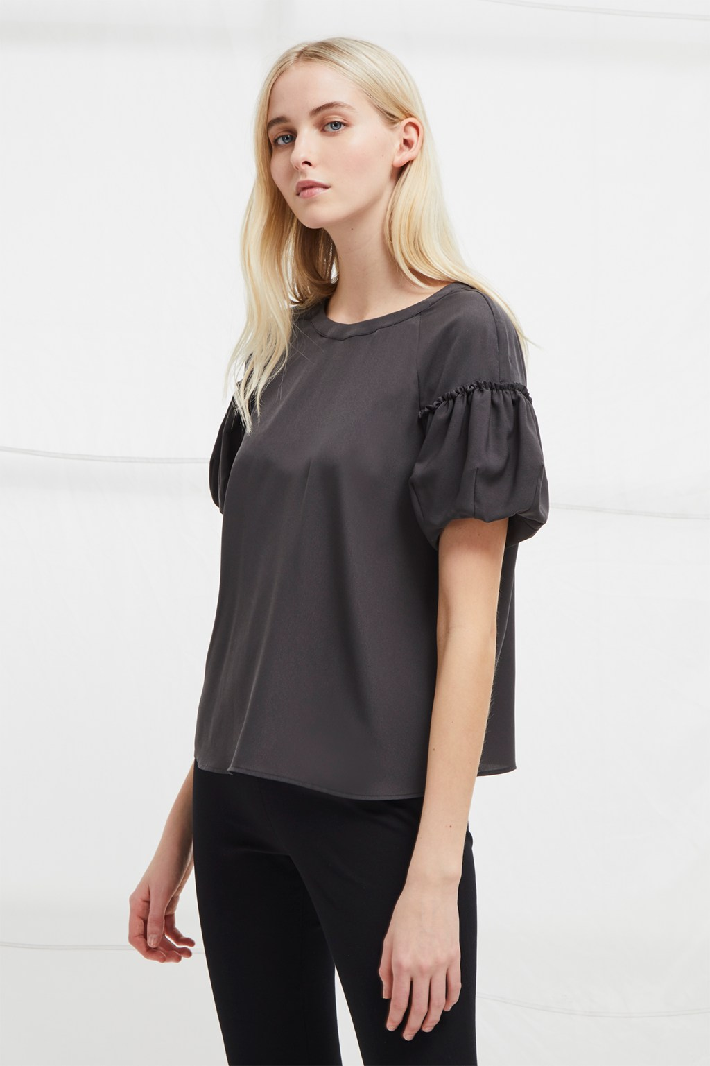ec883329693f31 Crepe Light Puff Sleeve Top | Collections | French Connection