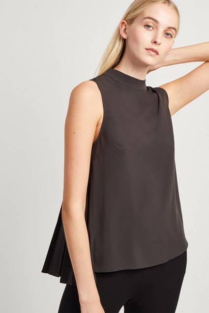 Crepe Light High Neck Top