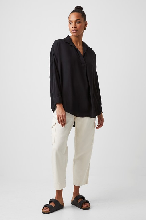 Complete the Look Rhodes Crepe Pop Over Shirt