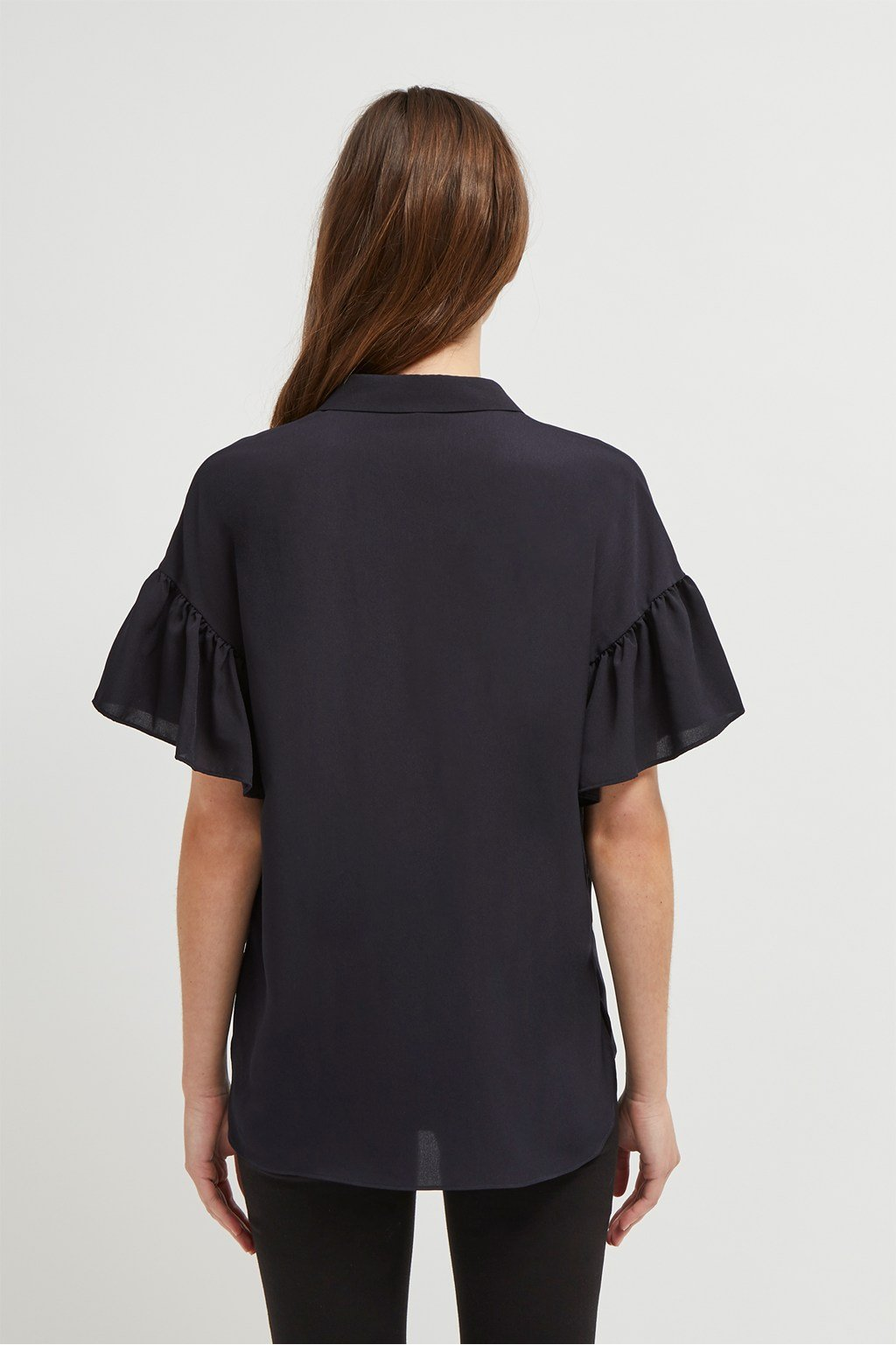 272508e944f Crepe Light Ruffle Sleeve Shirt | Collections | French Connection