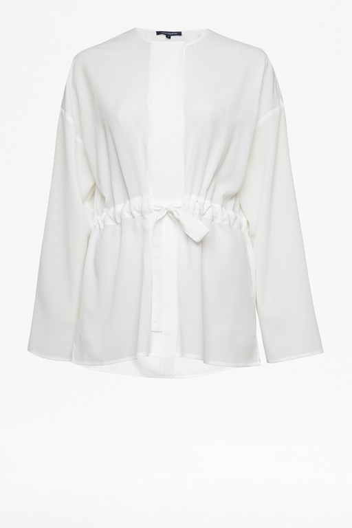 Complete the Look Crepe Gathered Waist Blouse