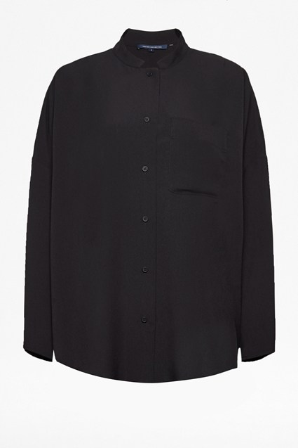 Crepe Light Convertible Collar Shirt
