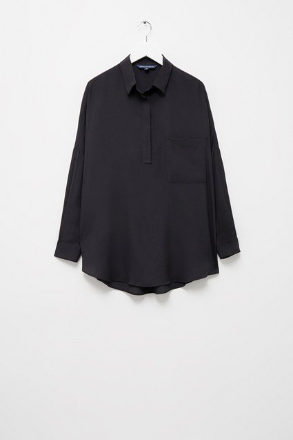 Crepe Light Popover Shirt
