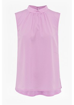 Crepe Light High Neck Sleeveless Top
