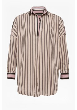 Cotton Mix Stripe Pop Over Shirt