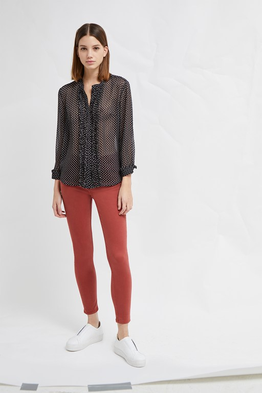 Complete the Look Caressa Crinkle Printed Shirt