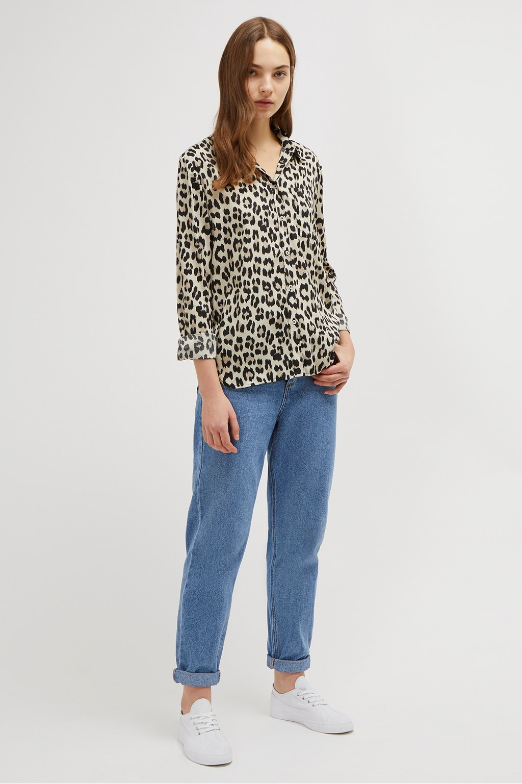 8c8158a5 Animal Print Boyfit Shirt | Collections | French Connection