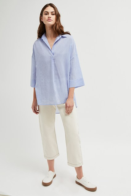 Jacinthe Stitch Pop Over Shirt