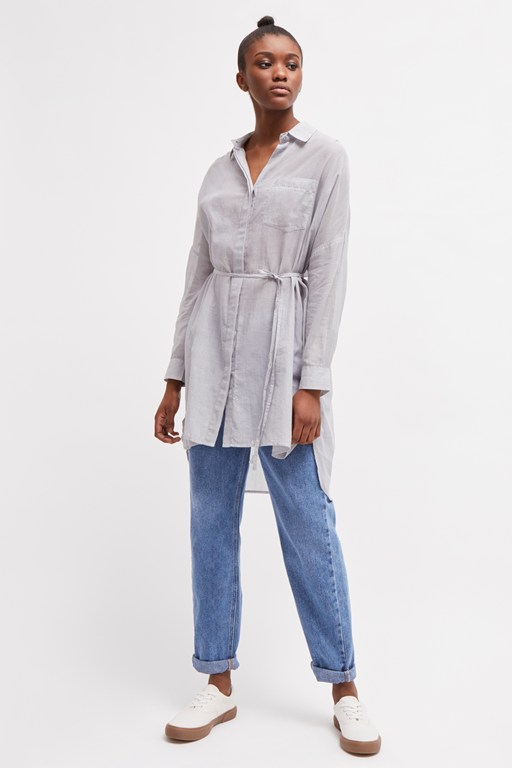 pruet lawn thin stripe shirt