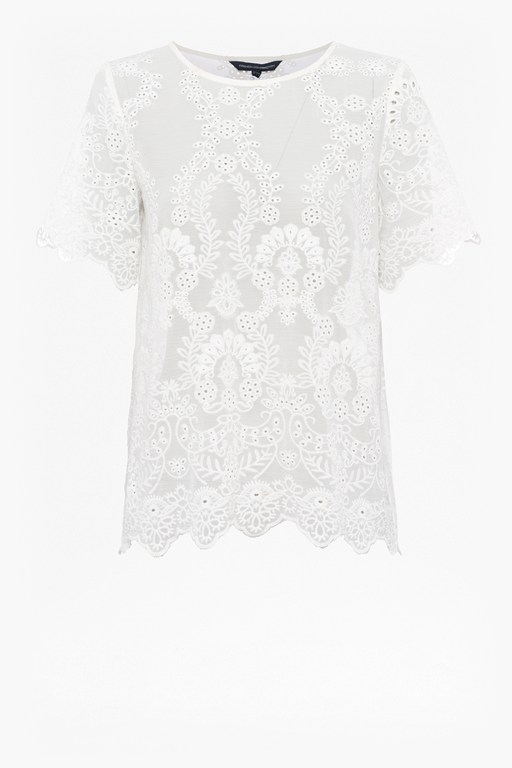 Complete the Look Camellia Lace Short Sleeve Top