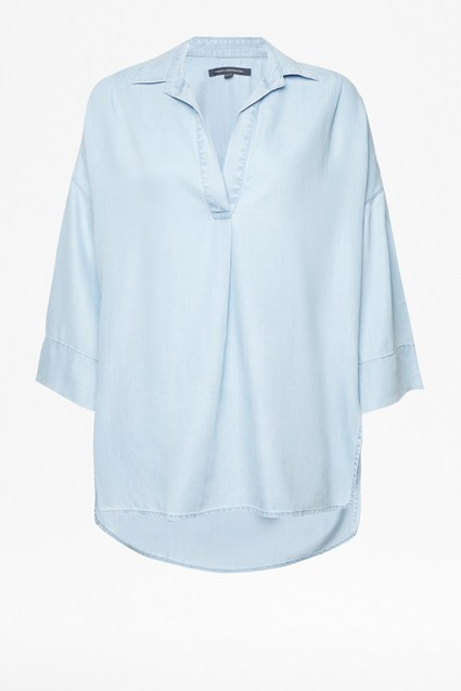Julienne Lyocell Pop Over Shirt