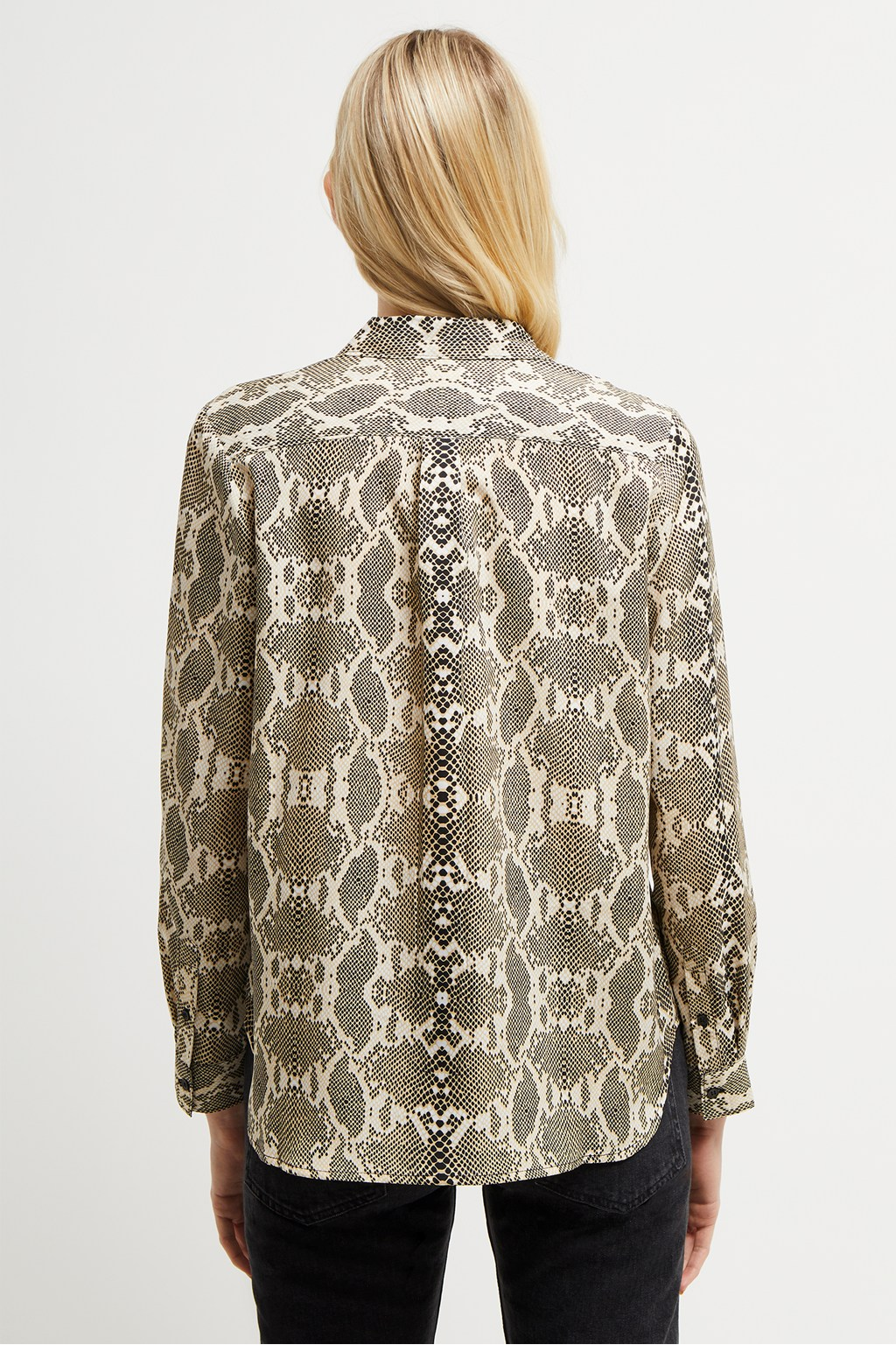 a3224b51 Snake Print Boyfit Shirt | Collections | French Connection
