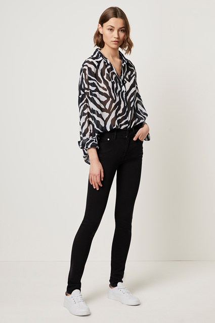 Sheer Zebra Pop Over Shirt
