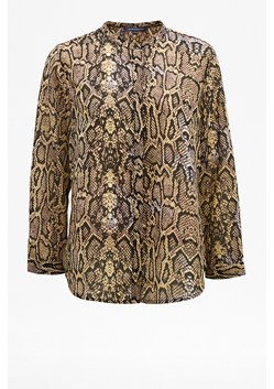 Cassa Snake Print Collarless Blouse