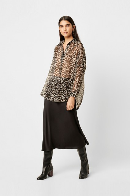 Leopard Pop Over Shirt