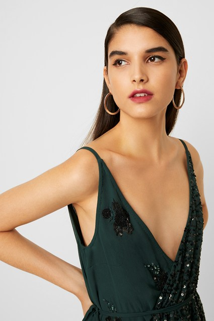 Aurora Embellished Wrap Top