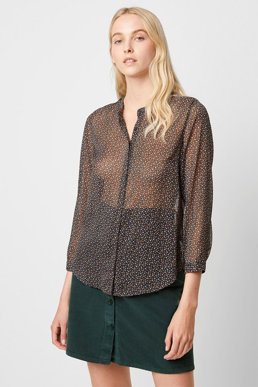 Complete the Look Graziana Crinkle Ditsy Print Blouse