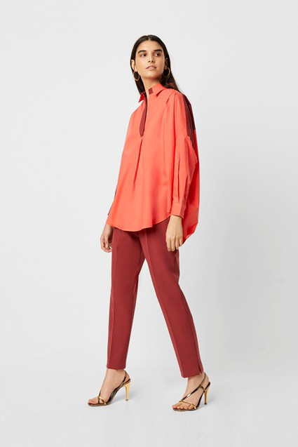 Rhodes Colour Block Popover Shirt