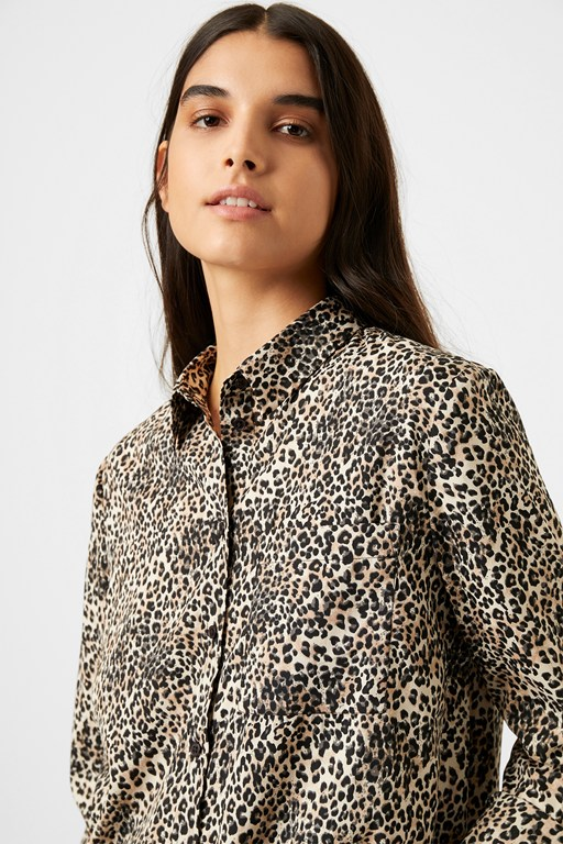 Complete the Look Leopard Print Boyfit Shirt
