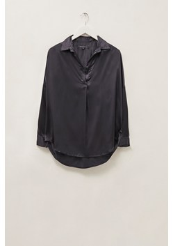 Silk Look Pop Over Shirt
