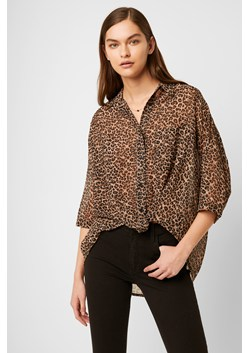 Animal Print Twist Front Shirt